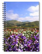 Sweet Peas Galore Spiral Notebook
