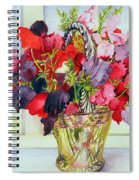 Sweet Peas In A Vase Spiral Notebook