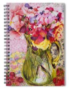 Sweet Peas With Cherries And Strawberries Spiral Notebook