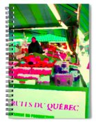 Sweet Ripe Strawberries Petits Fruits Du Quebec Direct From Farmers Market Food Art Carole Spandau  Spiral Notebook