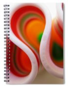 Sweet Waves Of Ribbon Candy Spiral Notebook