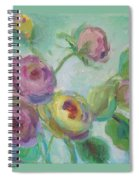 Sweetness Floral Painting Spiral Notebook