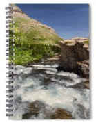 Swiftcurrent River At Many Glacier Spiral Notebook
