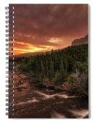 Swiftcurrent River Sunrise Spiral Notebook