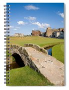 Swilcan Bridge On The 18th Hole At St Andrews Old Golf Course Scotland Spiral Notebook