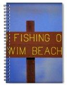 Swim Beach Sign II Spiral Notebook