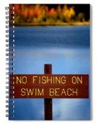 Swim Beach Sign Spiral Notebook