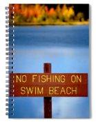Swim Beach Sign L Spiral Notebook