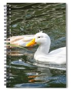 Swimming In The Pond Spiral Notebook