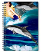 Swimming With Dolphins Spiral Notebook
