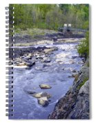 Swing Bridge Over The River Spiral Notebook