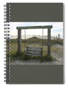 Swing On The Beach Spiral Notebook