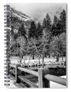 Swinging Bridge In Winter Spiral Notebook