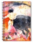 Swinging Yellow And Pink Spiral Notebook
