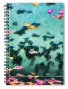 Swirling Leaves And Petals 2 Spiral Notebook