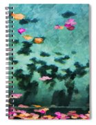 Swirling Leaves And Petals 4 Spiral Notebook
