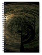 Swirling Moon Spiral Notebook