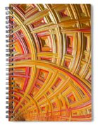 Swirling Rectangles Spiral Notebook