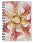 Swirls Of Red And Gold Spiral Notebook