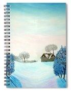 Swiss Opus Blue Christmas Spiral Notebook