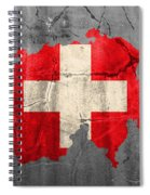 Switzerland Flag Country Outline Painted On Old Cracked Cement Spiral Notebook