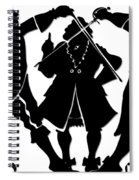Sword Duel Silhouette  Spiral Notebook