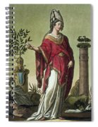 Sybil Of Eritrea With Her Insignia, 1796 Spiral Notebook