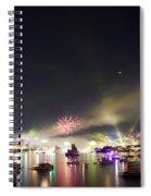 Sydney Navy Fleet Fireworks Spiral Notebook