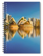 Sydney Skyline With Reflection Spiral Notebook