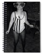 Sylver Short Halloween Tucson Arizona 1990 Black And White Spiral Notebook