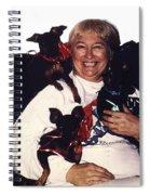 Sylver Short With Her Miniature Pinschers Christmas 2002-2008 Spiral Notebook