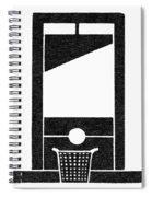 Symbol Guillotine Spiral Notebook