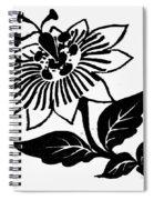 Symbol Passion Flower Spiral Notebook