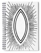 Symbol Vesica Piscis Spiral Notebook
