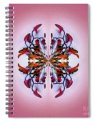 Symmetrical Orchid Art - Reds Spiral Notebook