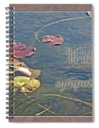 Sympathy Greeting Card - Autumn Lily Pads Spiral Notebook