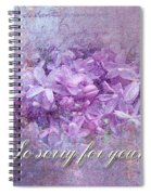 Sympathy Greeting Card - Lilacs Spiral Notebook