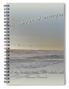 Sympathy Greeting Card - Ocean After Storm Spiral Notebook