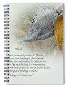 Sympathy Greeting Card - Poem And Milkweed Pods Spiral Notebook