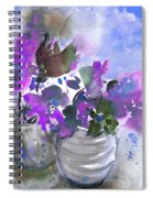 Symphony In Blue And Purple Spiral Notebook