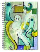 Symphony In Green Spiral Notebook