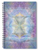 Synthecentered Doublestar Chalice In Blueaurayed Multivortexes On Tapestry Lg Spiral Notebook