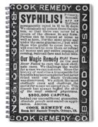 Syphilis Cure, 1890s Spiral Notebook