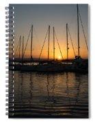 Syracuse Harbor Sunset Spiral Notebook