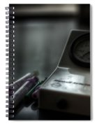 Syringe And Gauge   Spiral Notebook