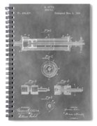 Syringe Patent Design Spiral Notebook
