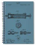 Syringe Patent Drawing Blue Spiral Notebook