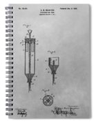Syringe Patent Drawing Spiral Notebook