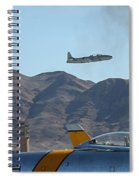 T-33 Shooting Star Flight Over Two Sabre's Spiral Notebook