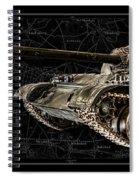 T-54 Soviet Tank Bk-bg Spiral Notebook
